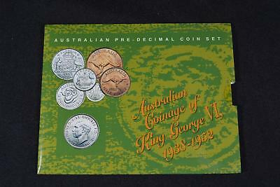 1938-1952 Australian Coinage Of King George Vi (6) Coin Pre-Decimal Set