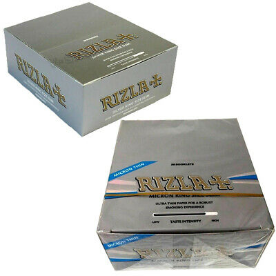 Rizla Silver King Size Slim / Silver Micron Smoking Rolling Papers Booklets New
