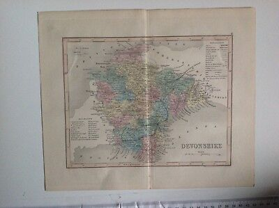 Devonshire, Antique Map C1875, Dugdales, J, Archer, Atlas