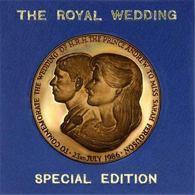 Royal Wedding 1986 Prince Andrew and Sarah Ferguson Commemorative Coin