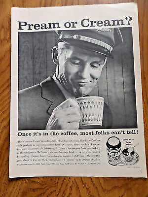 1959 Pream or Cream? for your Coffee Ad