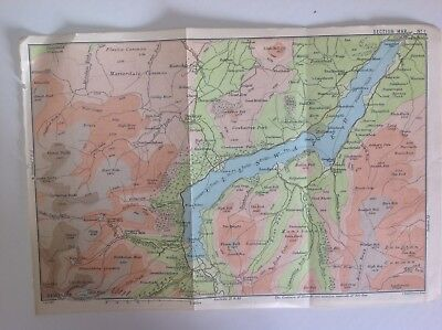 Ullswater, 1895, Antique Map, Bartholomew, Original