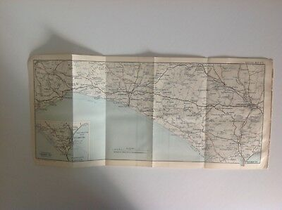 Dorchester, Weymouth, Lyme Regis, 1914,  Antique Map, Bartholomew, Original