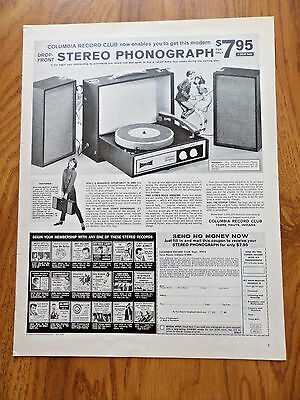 1966 Columbia Record Stereo Phonograph Ad