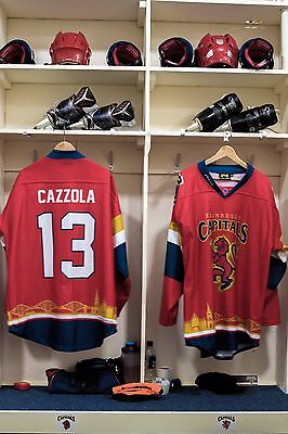 Edinburgh Capitals Scottish Cup game worn shirt #13 Cazzola