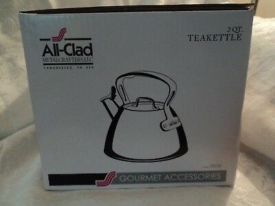 All-Clad 2 QT Stainless Steel Whistling Tea Kettle, New in box.  Ships today.