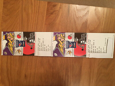 2 x NFL London 2017 Twickenham Minnesota Vikings v Cleveland Browns - TOP SEATS!