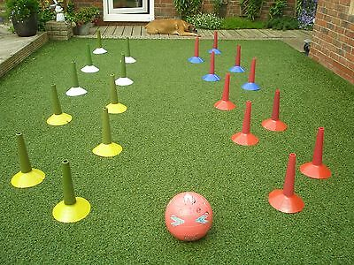 Football Training Cones Agility/ Slalom/ Dribbling X 20 ( Cones Only )