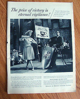 1959 LHCL League of Honest Coffee Lovers Ad
