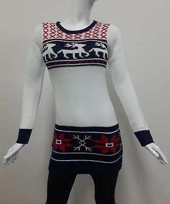 Derek Heart Christmas Sweater top tunic  Size Large  New