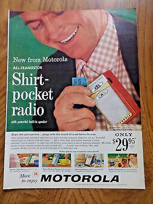 1959 Motorola All-transistor Shirt-Pocket Radio Ad