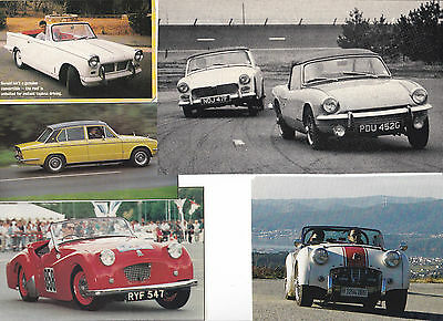 63 LOT Vintage TRIUMPH Cars, Huge Variety of Car Magazine Clips - Most UK issue