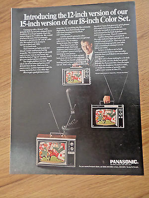 "1966 Panasonic Television TV Ad     12"" 18"" Color Set"