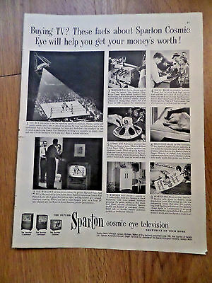 1952 Sparton TV Television Ad      Cosmic Eye