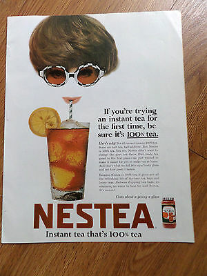 1967 Nestea Ad If You're Trying an Instant Tea for 1st Time be sure it's 100%