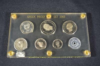 1965 Greece Greek (7) Coin Proof Set Austrian Mint Only 4,987 Minted