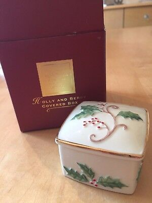 Lenox Holly and Berry Covered Box
