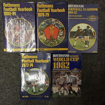 Rothmans Football Yearbooks 5 Off In Very Good Condition, Collectable