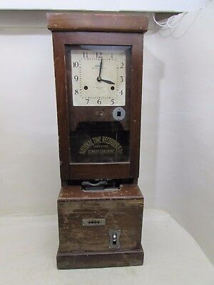Antique National Time Recorder Co.Ltd St Mary Cray Kent Clocking In Clock
