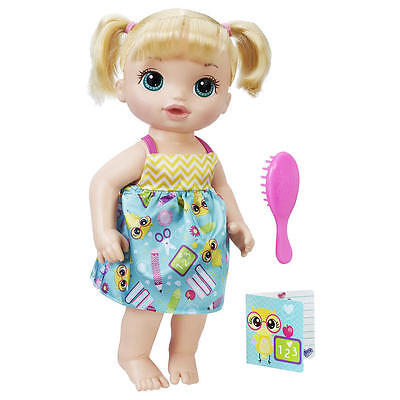 Baby Alive Ready for School Baby Girl Doll - Blonde Childrens Toy 3+ NEW