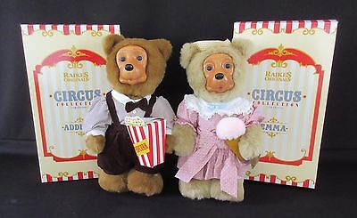 """""""Emma & Addison"""" Signed by Robert Raikes Bears -  Circus Collection 17th Edition"""
