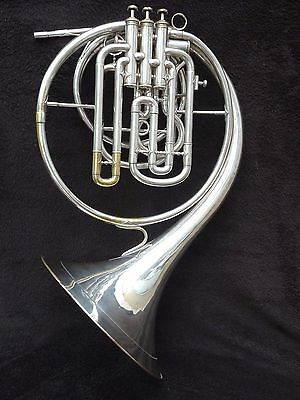 EXTREMLY RARE F.BESSON PARIS FRENCH HORN 4 PISTONS VALVES IN F & Eb FOURTH VALVE