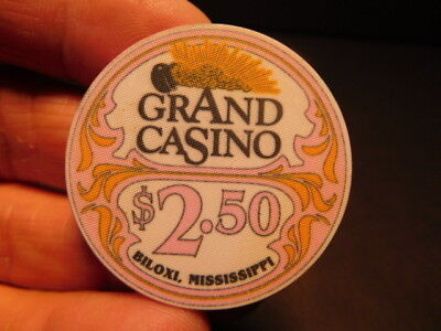 Obsolete GRAND CASINO BILOXI,  MISSISSIPPI $2.50 Casino Chip