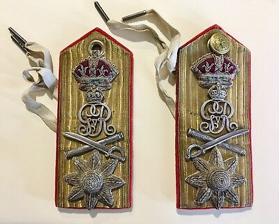 WW1 Royal Navy Rear Admiral Medical Shoulder Boards W/ Cypher GVR Rank Straps