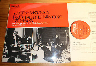 MRAVINSKY conducts SHOSTAKOVICH 6 SIBELIUS 7 LP ASD 2805 (UK) PROMO
