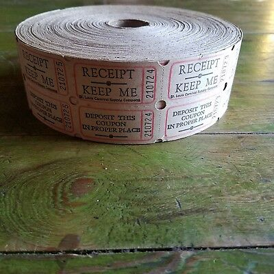 Roll Of Vintage St Louis Carnival Company Fair Ride Tickets  Amusement Raffle