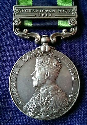 Original 1908 India General Service Medal with Afghanistan N.W.F. 1919 Clasp KLR