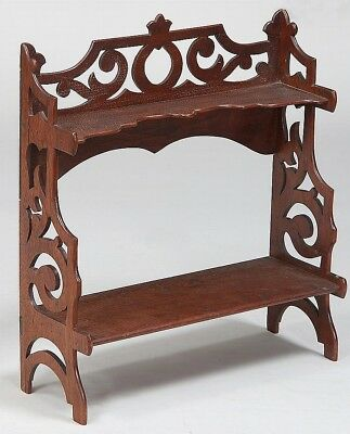 19th century mahogany two tier what-not shelf Lot 230