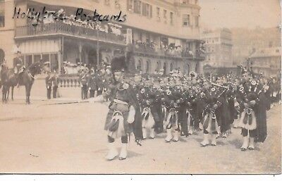1905 Dover sea front yacht club scotish  band bagpipes Kent RP