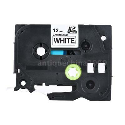 Black on White Label Tape Compatible f/ Brother PT-1010/2100/E200 12mm P-Touch