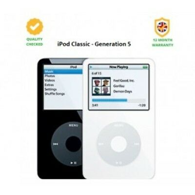 Apple iPod classic 30GB - 5th Generation - Silver - Very Good