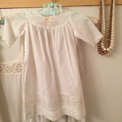 Vintage Edwardian Crochet Childs Slip Nightgown