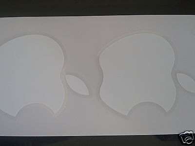 Lot of 2 *NEW* APPLE MAC white stickers