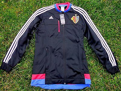 FC Basel Anthem Jacket Adidas Mens / Men Size / Size S-2XL New Fan 1893+ Suisse