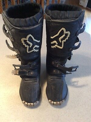 Fox Racing Motorcycle Riding Boots Motocross Dirt Bike Youth Kids 2