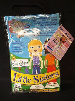 LITTLE SISTERS Fashion Angels PAPER DOLLS Clothing DESIGN KIT - BRANDI & ARIELLE