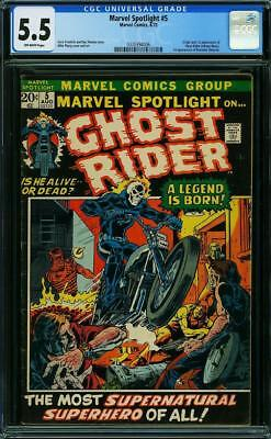Marvel Spotlight #5 CGC 5.5 1972 1st Ghost Rider! Johnny Blaze! G8 326 cm