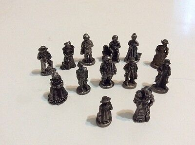 VINTAGE AMERICAN COLLECTION PEWTER FIGURES LOT of 13