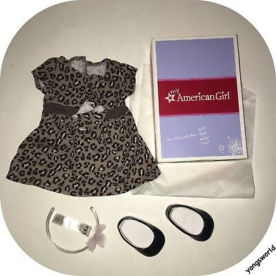 Pleasant Company American Girl Sweet Savannah Dress Outfit Shoes Box Lot