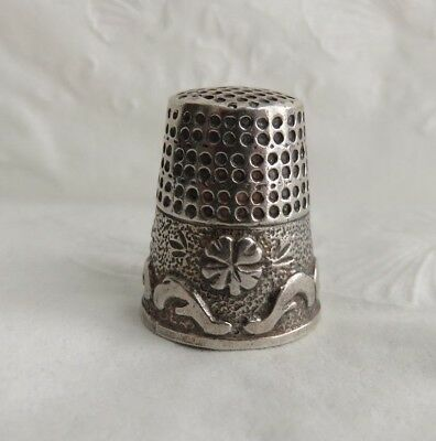 Vintage Sterling Silver Thimble Pretty Band