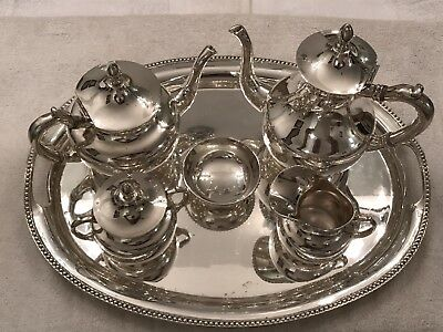Anaya 925 Silver Tea Set from Mexico.