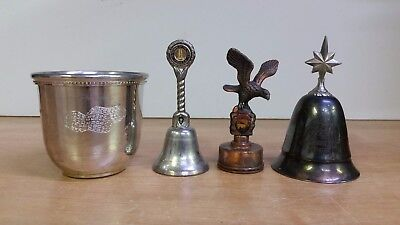 Lot of 4 Pewter Salisbury Cup - Cathedral of the Pines Bell- Kirk Stieff + MORE