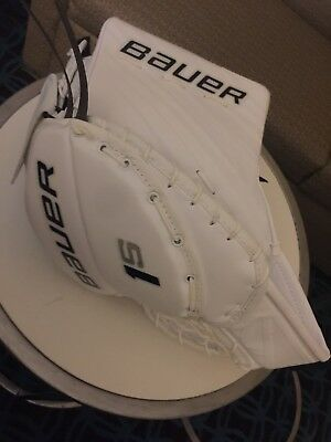 Bauer Supreme 1s Pro Goalie Catch Glove Sr. NEW Never Used Awesome Glove Regular