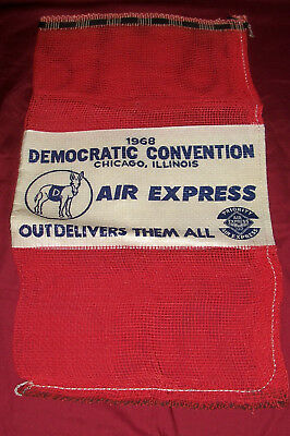 1968 Democratic Convention Air Express Mail Bag USPS President Lyndon Johnson