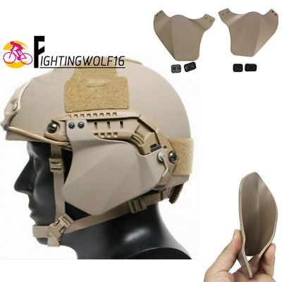 1 Pair FAST Helmet Side Cover For Helmet Rail Soft Ear Protector Airsoft Hunting