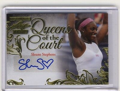 2015 Leaf Ultimate Tennis Sloane Stephens Queens GOLD Auto Autograph #10/10